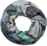 styleBREAKER Loop Schal mit geometrischem Muster Print, Schlauchschal, Tuch, Damen 01016141, Farbe:Blau-Grün-Beige