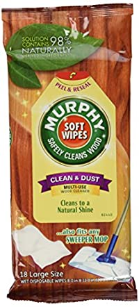 Murphy's Wet Disposable Soft Wipes, Large - 18 ea