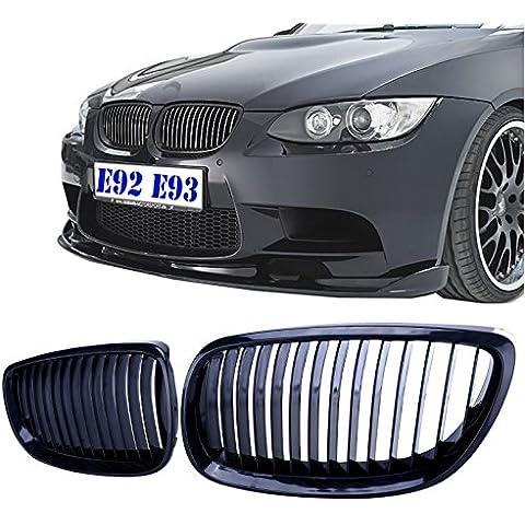 SENGEAR - Parrilla Rejillas Frontal Alto Brillo Negro Piano/Grill de 2pcs para BMW 2007-2010 E92 E93 328i 335i 2DR