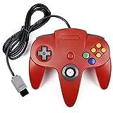 iNNEXT Retro Nintendo 64 N64 Controllerunde Gamepad Controller Joystick f�r Nintendo 64 Konsole N64 System,Rot Bild