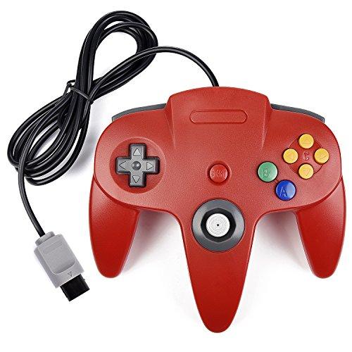 kiwitata Classic Retro Wired Game Controller Gamepad Joystick für die N64Konsole Nintendo 64Video Game System Rot (64 Nintendo Controller Super)