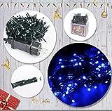 Acobonline Weihnachtsbeleuchtung für die Dekoration von Partys, Hochzeiten, Weihnachtsbeleuchtung für den Weihnachtsbaum 180 LED 16.5M LED blau