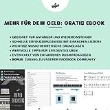 Klavier + Keyboard Noten-Aufkleber für 49   61   76   88 Tasten + Gratis Ebook   Premium Piano Sticker Komplettsatz für schwarze + weisse Tasten   C-D-E-F-G-A-H   einfache Anleitung auf Deutsch - 5