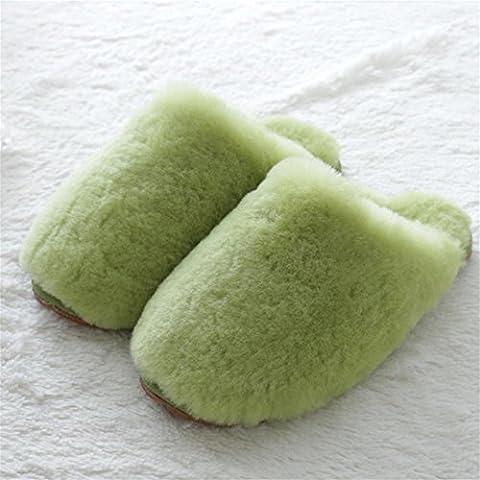 TDXIE Pelliccia di pecora australiana pantofole peluche pantofole a baotou, lana per l'autunno/inverno 35 36 37 38 39 40 41 42 43 44 , e , 44