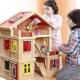 WDXIN Juguete de casa Juegos niños Educativo Casa de Madera Chico...