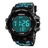 Longra Hommes Luxe Analogique numérique Militaire Armée LED de sport Imperméable Montre-bracelet LED Digitale Analogique Montres Digital montres Montre en métal montre pour bracelet (Bleu, One size)