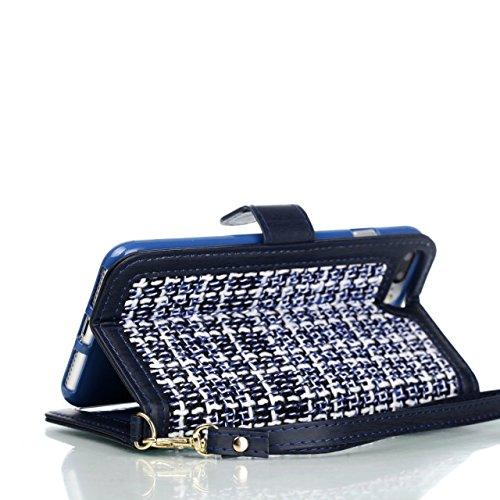 JIALUN-Telefon Fall Weaving Pattern PU Leder Schutzhülle Brieftasche Stand Case mit Card Slots und Foto Frame für Apple IPhone 7 Plus ( Color : 4 , Size : IPhone 7 Plus ) 1