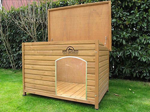 Pets Imperial® Extra Large Insulated Wooden Norfolk Dog Kennel With Removable Floor For Easy Cleaning 5