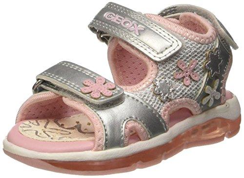 Geox Baby Mädchen B Sandal Todo Girl B Lauflernschuhe, Silber (SILVERC1007), 26 EU