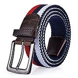 ITIEZY Elastischer Stoffgürtel Stretchgürtel Geflochtener Stretchen Gürtel für Damen und Herren