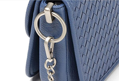 Frau Gewebt Modekette Tasche Schulter-Kurier-beiläufige Handtasche Grey
