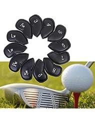 12st PU-Leder-Golf-Eisen-Club Putter Schl_gerhauben Schutzhôllen