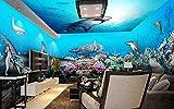 Fototapete Vlies Tapete 3D Wallpaper Wanddeko Design Moderne Anpassbare Wandbilder Sea World Hai Thema Hintergrund Mauer