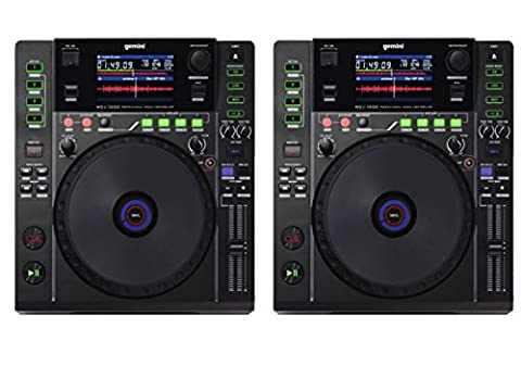 2 x Gemini MDJ-1000 Professional Media DJ CD Player USB
