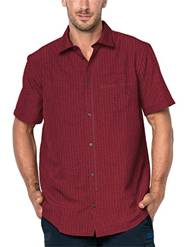 Jack Wolfskin Herren EL Dorado Hemd Indian red xt Checks XL Preisvergleich