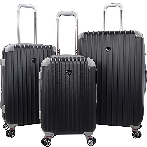travelers-polo-racquet-club-chicago-20-3-piece-expandable-spinner-luggage-set-black-one-size