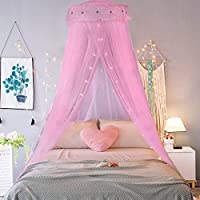 Jeteven Princess Mosquito Net Lace Dome Bed Canopy for Children Fly Insect Protection Indoor/Outdoor Decorative Height 240cm/94.5in