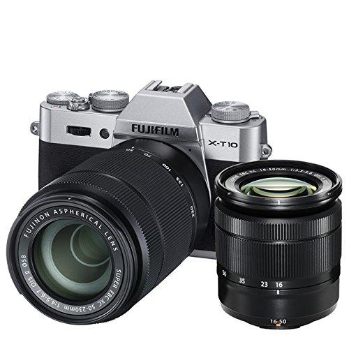 FUJIFILM X-T10 - CAMARA EVIL DE 16 MP (PANTALLA DE 3  LCD  1080 P FHD  CMOS II) NEGRO Y PLATA - KIT CUERPO CON OBJETIVOS FUJINON XC 16 - 50 MM F/3 5 - 5 6 OIS II + XC 50 - 230 MM F/4 5 - 6 7