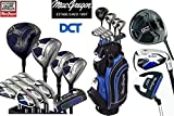 MacGregor DCT All Graphite Men's Golf Package Set Cart Bag FREE UMBRELLA & SOCIETY TEE PACK