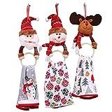 Schöne Weihnachtsdekorationen Weihnachten Serviette Handtuchhalter Handtuch Hängende Ring für Küche Badezimmer