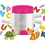 Mummy Cooks - Lunchbox Enfant Isotherme Inox 300ml (Rose) - STICKERS OFFERTS