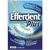 Efferdent Plus Denture Cleanser with Min...
