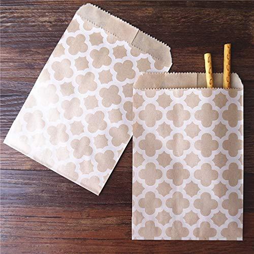 15 CM * 10 CM 100 stücke Handwerk Kraft Papier Tasche für Gäste Geschenk Blume Waben Baby dusche Dekoration Einweg popcorn Süßigkeiten tasche