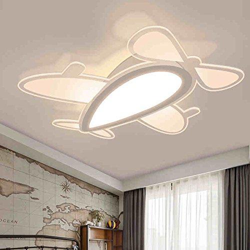 Einfache Ebene Kinder Zimmer Deckenleuchten kreative Cartoon Art LED Augenschutz Deckenleuchte (45 cm/65 CM) Kreative Lampen (Farbe: warmes Licht-65 cm) - Kommerzielle Ebene