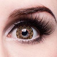 matlens–EOS colorate lenti a contatto senza spessore marrone Brown Big Eyes Daisy 3T 2lenti 1contenitore lenti a contatto 1detergente 50ml FBA