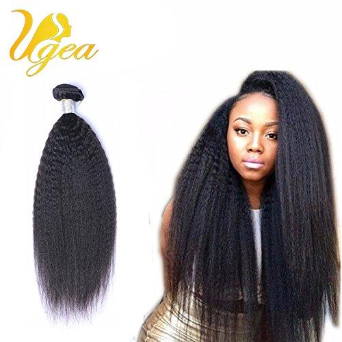 Haar Bundles Indisches (Ugeat Kinky Straight Brasilianisch Virgin Echthaar Tressen 14 Zoll/35cm 100% Real Haare Weaving Extensions 100g/bundle)