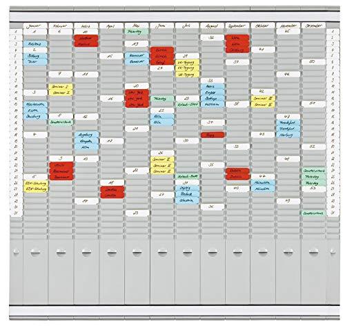 Franken PV-SET4 T-Kartentafel Office Planer (12 + 2 Index, 35 Schlitze) 81,9 x 78 cm