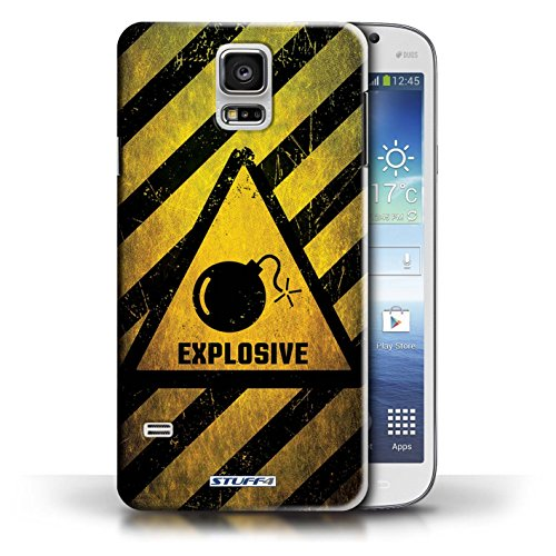 Coque de Stuff4 / Coque pour Samsung Galaxy S5/SV / Biohazard Design / Signes de Danger Collection Explosif