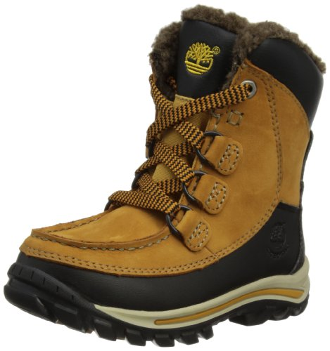 Timberland Rime Ridge Waterproof - Stivali Uomo, Marrone (Wheat Nubuck), 33 EU (1 UK)