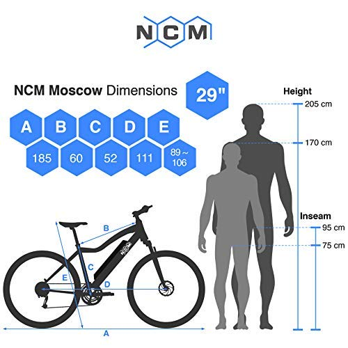 NCM Moscow Plus E-Bike Mountainbike Bild 6*