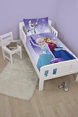 Disney Frozen Elsa/Anna y Olaf Junior Juego de Funda de edredón, poliéster, algodón, Morado, Individual