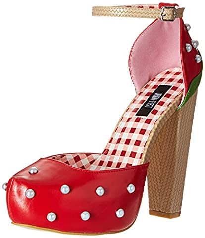 Iron Fist Strawberry Lips Platform, Damen Mary Jane Halbschuhe, Rot (Red), 43 EU (9 Damen UK)