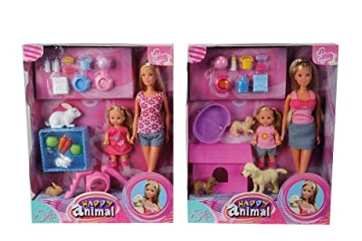 Simba Toys 105732156 - Steffi Love Happy Animal, 2-sort. por Simba Toys