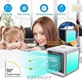 TOYDGET Portable Mini Air Cooler Arctic Air Conditioner with Soothing 7 Colors LED
