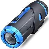 1080P Full HD Action Kamera,Mini Wlan Wasserdicht(Nicht Need Case)Nachtsicht Dash Cam Kamera Mit Drahtlose Fernbedienung&Dashcam Zubehör Montieren Für Motorrad Helm&Stativ&Fahrrad&Fahrradlenker&Sport,Starlight