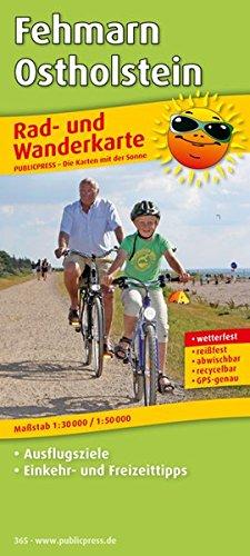 Fehmarn - Ostholstein: Rad- und Wanderkarte mit Ausflugszielen, Einkehr- & Freizeittipps, wetterfest, reissfest, abwischbar, GPS-genau. 1:30000/1:50000 (Rad- und Wanderkarte / RuWK)