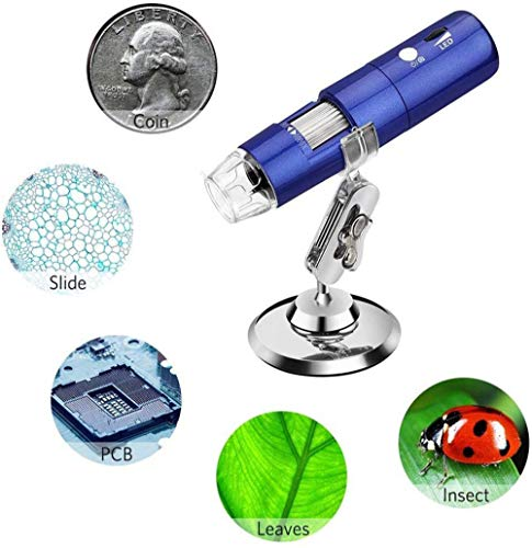 ENJOY LIFE Endoskopkamera Endoskop Kamera Inspektionskamera Digital Mikroskop Kamera Wireless WiFi USB Mikroskop 2MP 1080P HD 1000x Kinder Studenten 8 LED Tasche Mini Zoom Endoskop mit Ständer