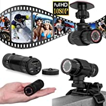 EMEBAY - Sport étanche full hd 1080p dv mini caméra casque de cycliste action dvr video cam - Mini F9 5MP HD 1080P H.264 imperméable étanche sport caméra DV pour sport, vélo, moto, voiture, etc