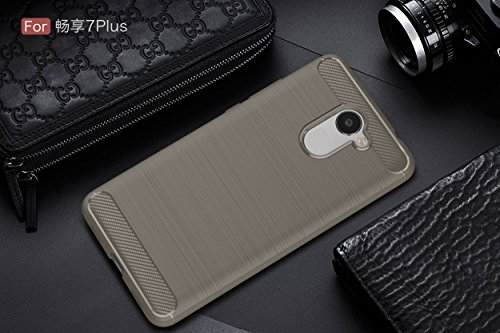 Huawei Y7 Case,SMTR Ultra Silm Case Cover [Durable][shockproof] Maximum Shock Protection For Huawei Y7 - Gray