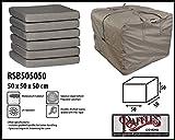 Raffles Covers RSB505050 Loungepolstertragetasche 50 x 50 x 50 cm Aufbewahrungstasche/Cover für Loungekissen, Tragetasche für Gartenmöbel Auflagen, Aufbewahrungstasche für Hochlehnerauflagen