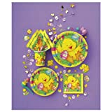 """8 x 9"""" Easter Ducky Paper Party Plates."""