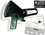 Slim Guide Pinza Misuratore di grasso + stampato, tedesco Manuale + Berechnungstool di grasso corporeo di Excel - Nero