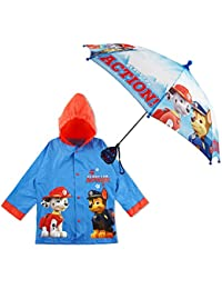 Nickelodeon Paw Patrol Character Slicker and Umbrella Rainwear Set