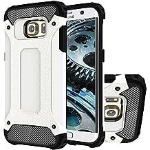 Galaxy S6 Edge+ Funda, HICASER Híbrida Case [Heavy Duty] Rugged Armor Cover, Dual Layer Shock Resistant Carcasa para Samsung Galaxy S6 Edge Plus Blanco