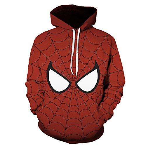 YXRL Hoodie 3D-Druck Marvel, Kapuzenpullover Kängurutasche Lange Ärmel Sweatshirt Red B-6XL (Shirts 5xl Marvel)