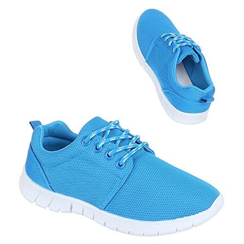 Damen Schuhe, M7-1, FREIZEITSCHUHE HALBSCHUHE SPORTSCHUHE Blau